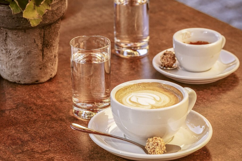 coffee, cappuccino, drink